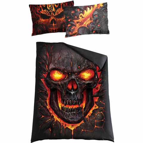 Image of SKULL BLAST - Single Duvet Cover + UK And EU Pillow case - Spiral USA