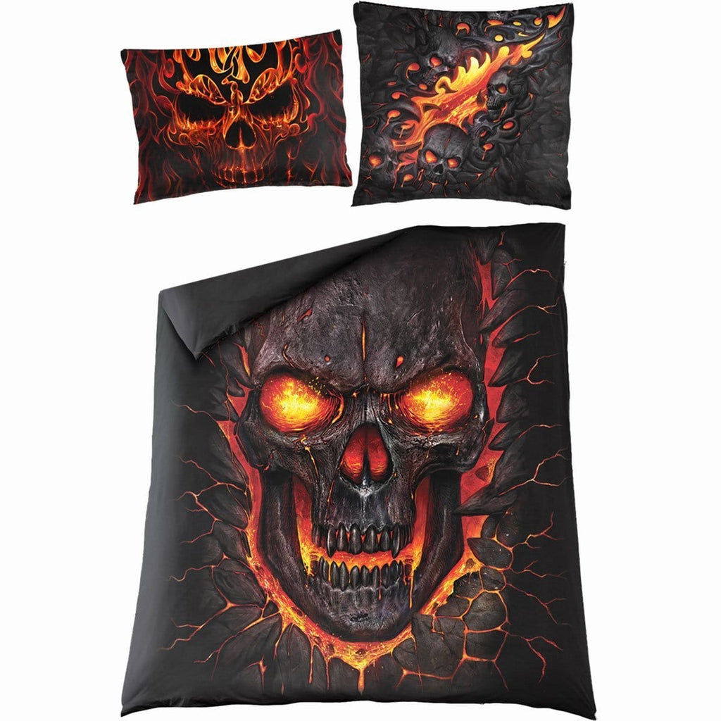 SKULL BLAST - Double Duvet Cover + UK And EU Pillow case - Spiral USA