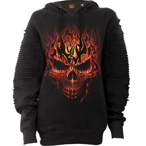 SKULL BLAST - Premuim Biker Fashion Ladies Hoodie