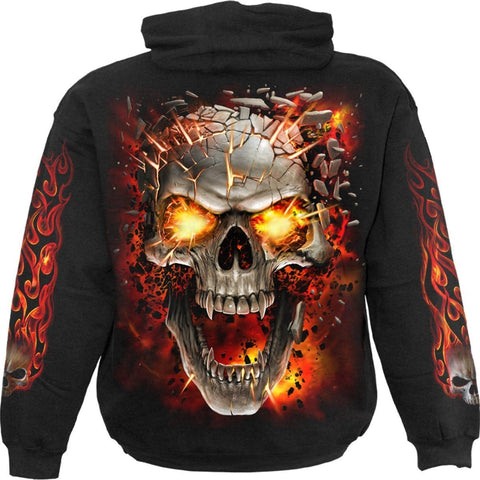Image of SKULL BLAST - Hoody Black - Spiral USA