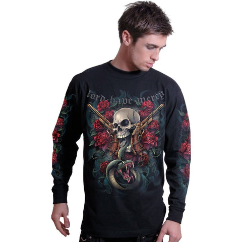 LORD HAVE MERCY - Longsleeve T-Shirt Black - Spiral USA