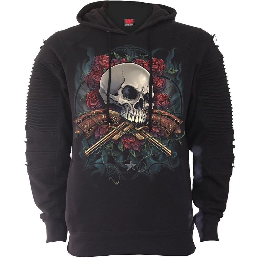 LORD HAVE MERCY - Premuim Biker Fashion Mens Hoodie - Spiral USA