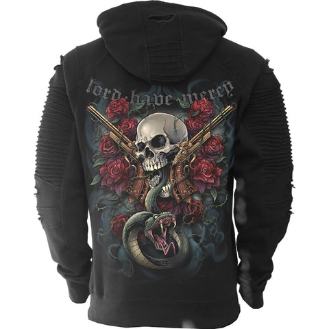Image of LORD HAVE MERCY - Premuim Biker Fashion Mens Hoodie - Spiral USA