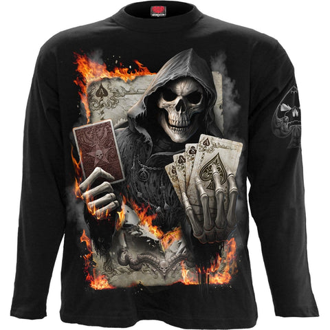Image of ACE REAPER - Longsleeve T-Shirt Black - Spiral USA