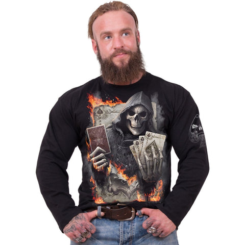 Image of ACE REAPER - Longsleeve T-Shirt Black