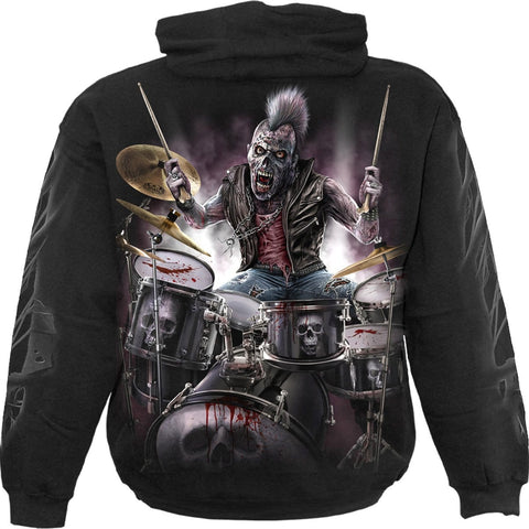 ZOMBIE BACKBEAT - Hoody Black - Spiral USA