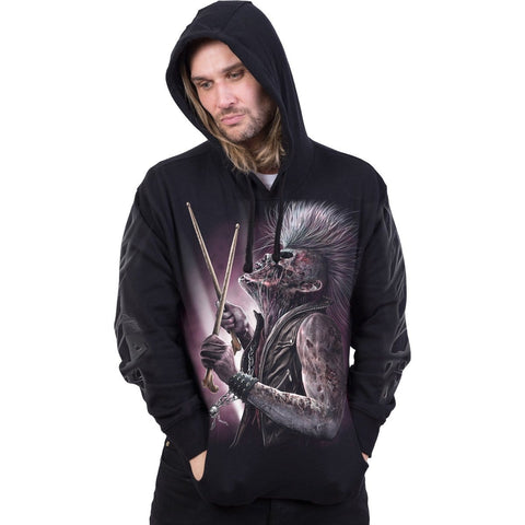 Image of ZOMBIE BACKBEAT - Hoody Black - Spiral USA