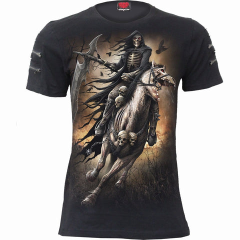 Image of PALE RIDER - Twin Zipper Sleeve Fashion Tee - Spiral USA