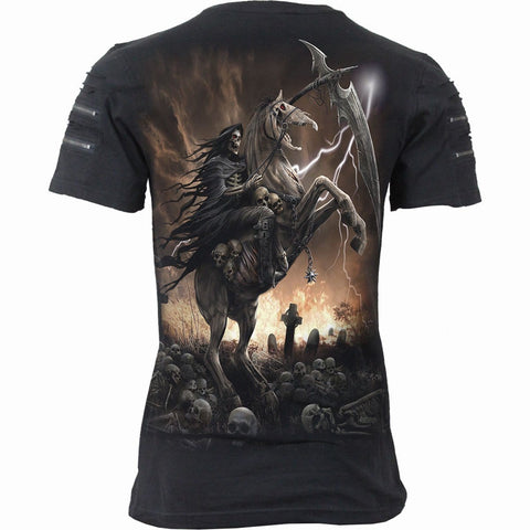 Image of PALE RIDER - Twin Zipper Sleeve Fashion Tee