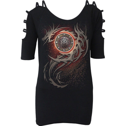 DRAGON EYE - Ladder - Strap Shoulder Top - Spiral USA