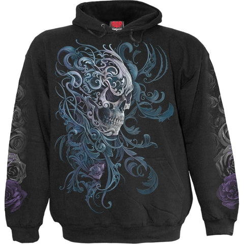 Image of ROCOCO SKULL - Hoody Black - Spiral USA