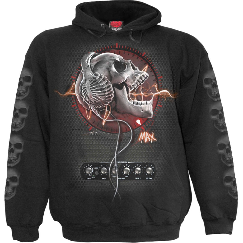 NEVER TOO LOUD - Hoody Black - Spiral USA