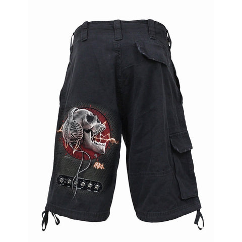 NEVER TOO LOUD - Vintage Cargo Shorts Black