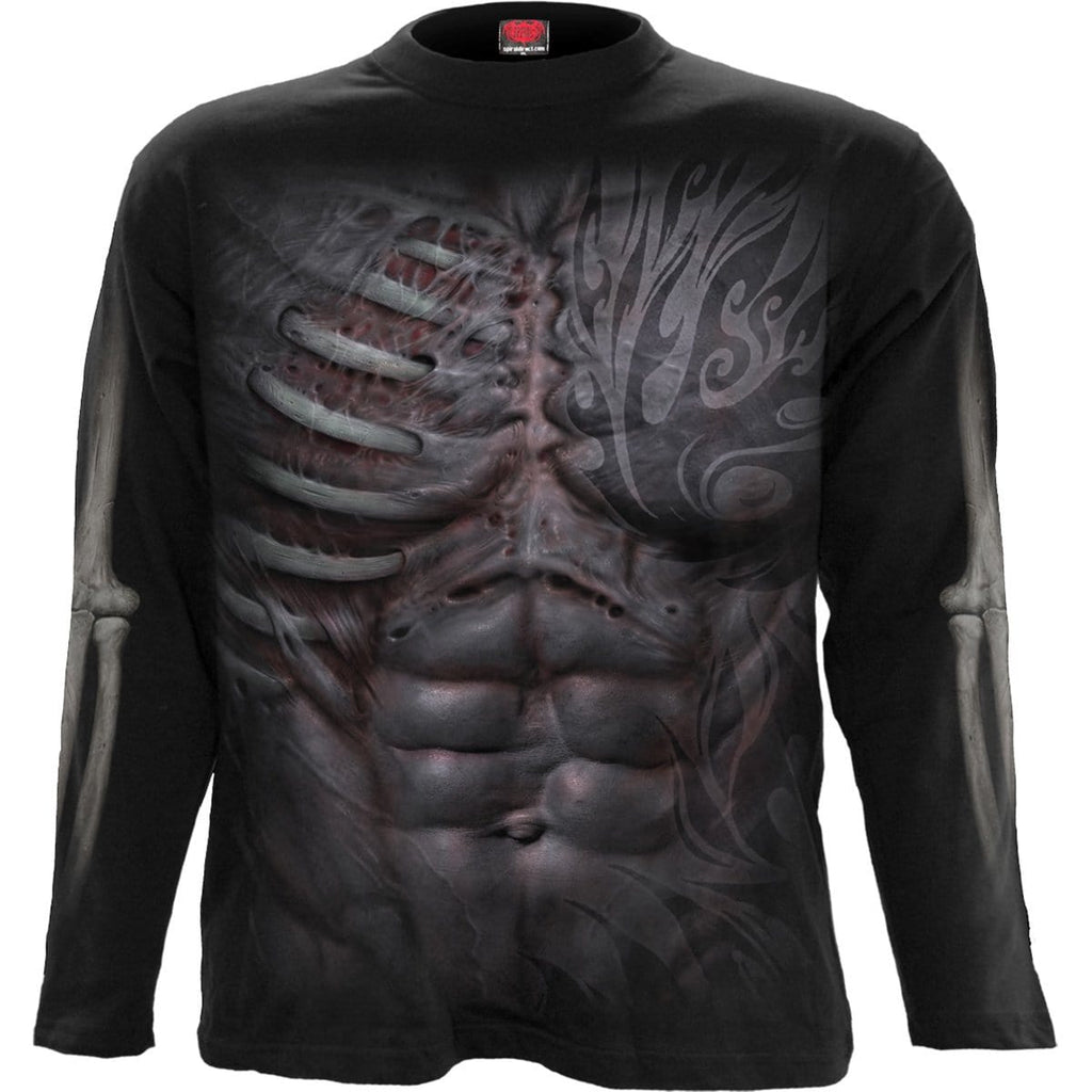 RIPPED - Longsleeve T-Shirt Black - Spiral USA