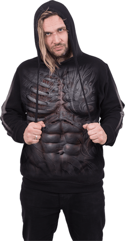 Image of RIPPED - Side Pocket Hoody Black - Spiral USA