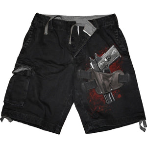 HOLSTER - Vintage Cargo Shorts Black - Spiral USA