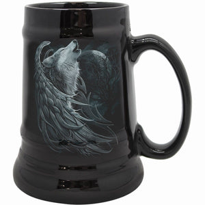 WOLF SPIRIT - Steins - Ceramic Beer Mug - Gift Boxed - Spiral USA