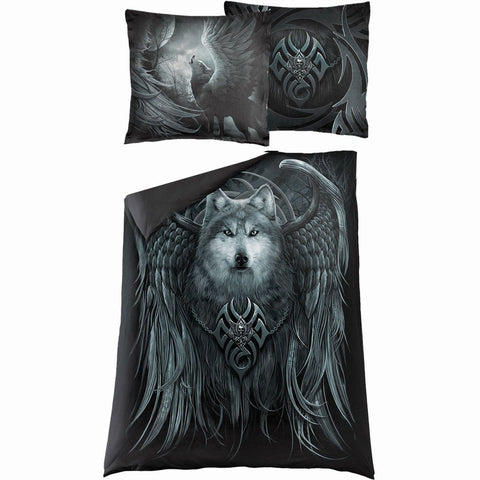 Image of WOLF SPIRIT - Single Duvet Cover + UK And EU Pillow case - Spiral USA