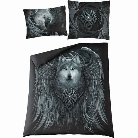 Image of WOLF SPIRIT - Double Duvet Cover + UK And EU Pillow case - Spiral USA