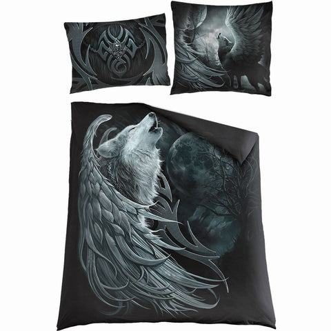 WOLF SPIRIT - Double Duvet Cover + UK And EU Pillow case