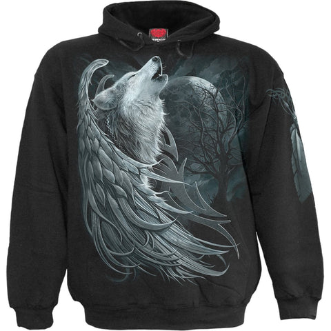 Image of WOLF SPIRIT - Hoody Black - Spiral USA