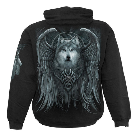 Image of WOLF SPIRIT - Hoody Black