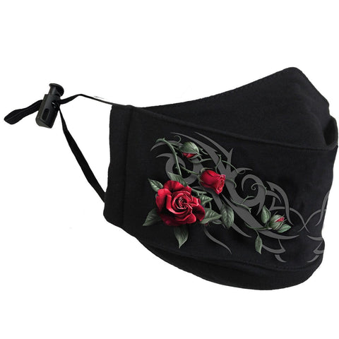 TRIBAL ROSE - Premium Cotton Fashion Mask with Adjuster
