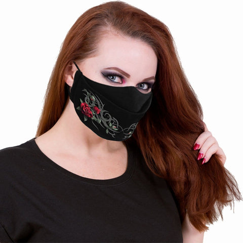 TRIBAL ROSE - Premium Cotton Fashion Mask with Adjuster - Spiral USA