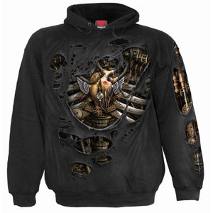 STEAM PUNK RIPPED - Hoody Black - Spiral USA