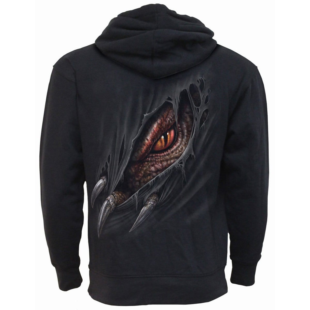 BREAKING OUT - Side Pocket Stitched Hoody Black - Spiral USA
