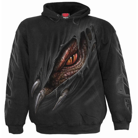 BREAKING OUT - Kids Hoody Black - Spiral USA