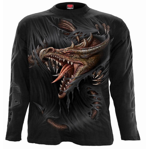 Image of BREAKING OUT - Longsleeve T-Shirt Black - Spiral USA