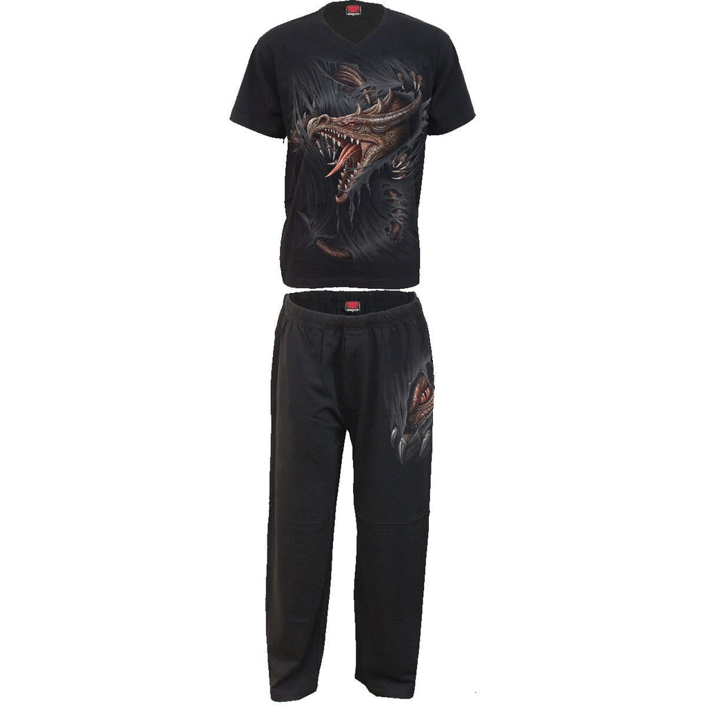 BREAKING OUT - 4pc Mens Gothic Pyjama Set - Spiral USA