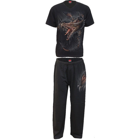 Image of BREAKING OUT - 4pc Mens Gothic Pyjama Set - Spiral USA