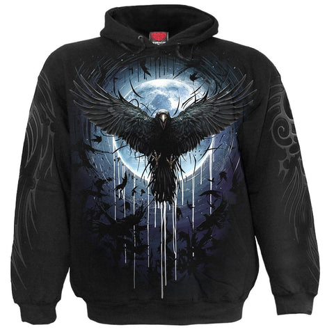 CROW MOON - Hoody Black - Spiral USA