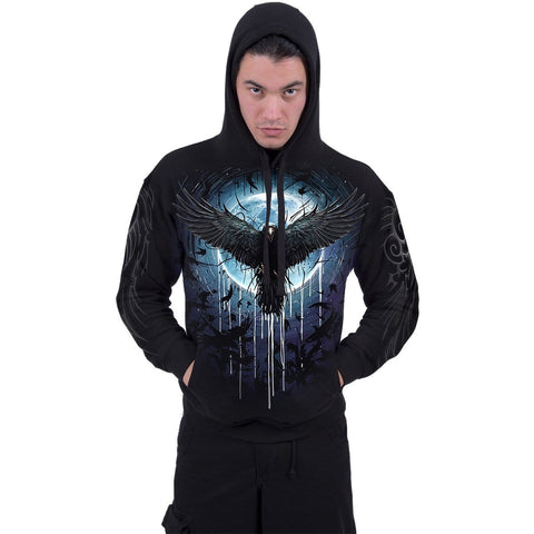 Image of CROW MOON - Hoody Black - Spiral USA