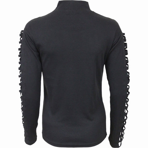 Image of STRAPPED - Watefall Slits Longsleeve Top - Spiral USA