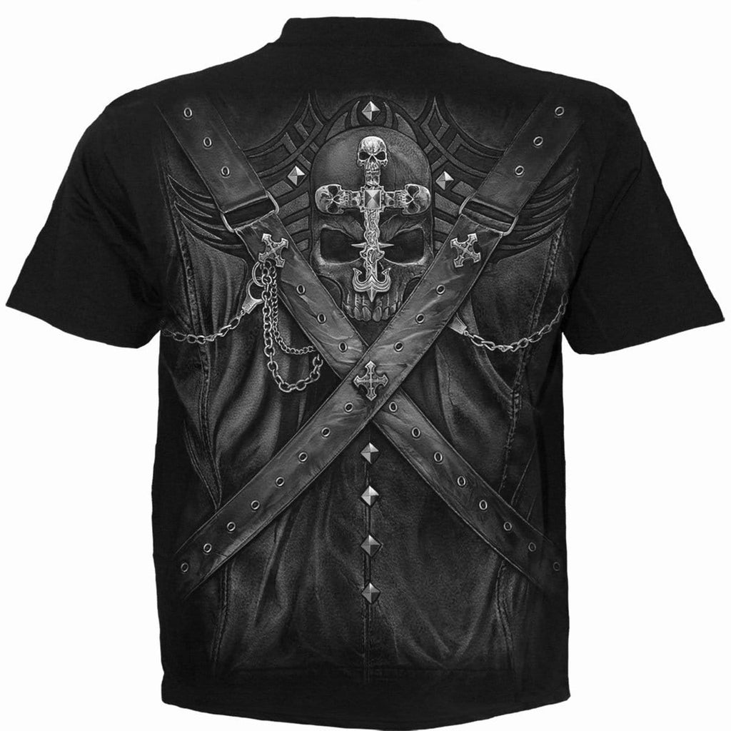 STRAPPED - T-Shirt Black - Spiral USA