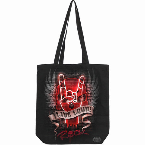 Image of LIVE LOUD - Bag 4 Life - Canvas 80z Long Handle Tote Bag - Spiral USA