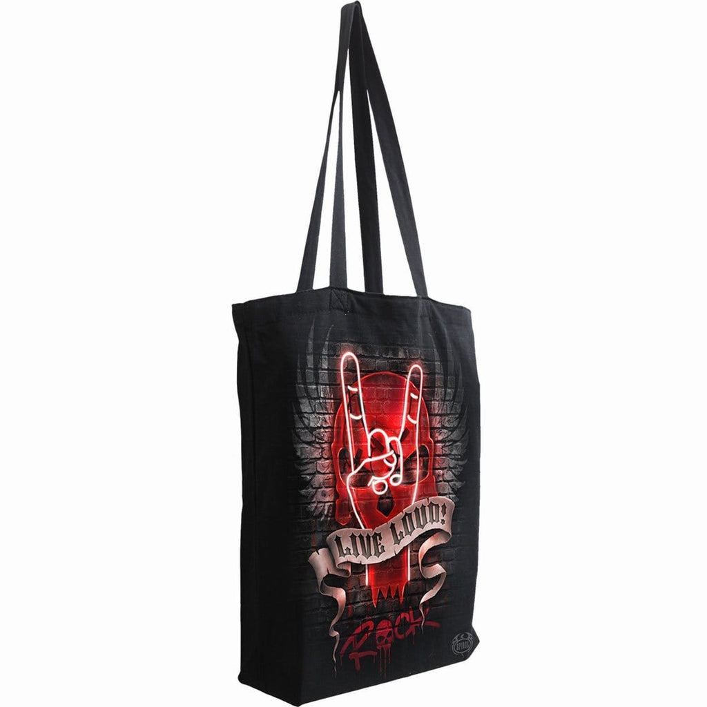 LIVE LOUD - Bag 4 Life - Canvas 80z Long Handle Tote Bag - Spiral USA