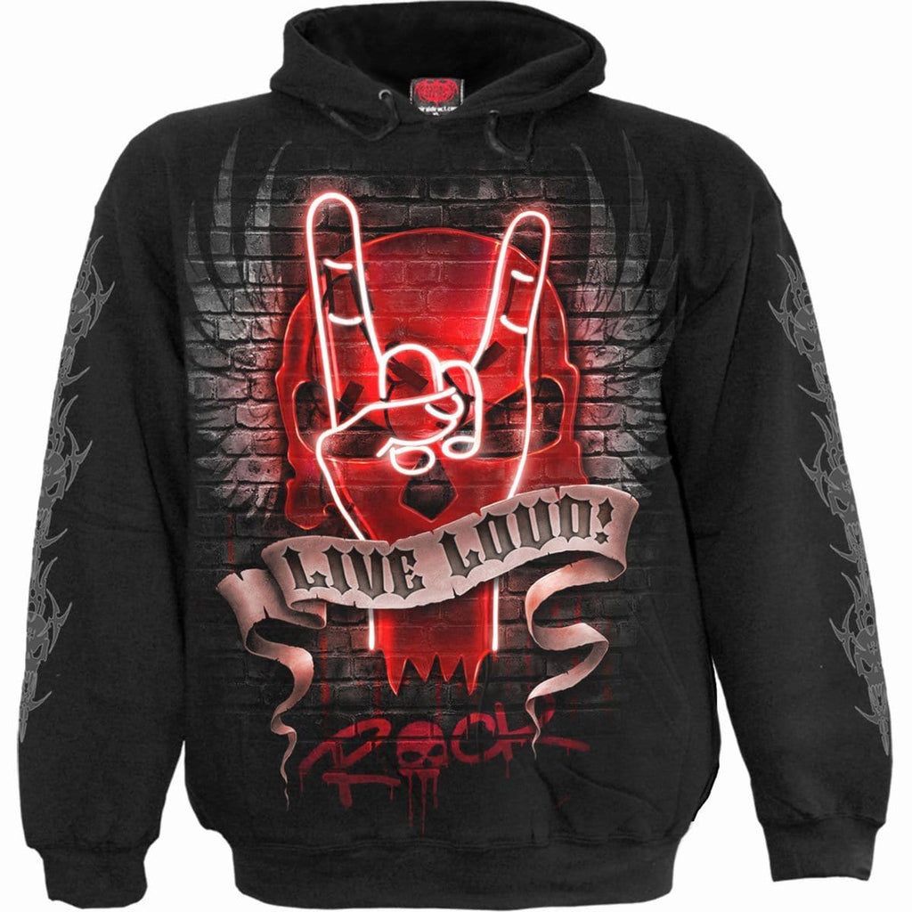 LIVE LOUD - Hoody Black - Spiral USA