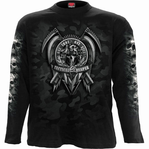 Image of TACTICAL REAPER - Longsleeve T-Shirt Black - Spiral USA