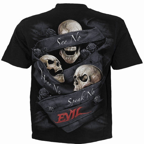 Image of SEE NO EVIL - T-Shirt Black - Spiral USA