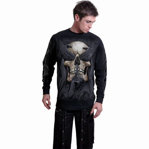 Image of SEE NO EVIL - Longsleeve T-Shirt Black - Spiral USA