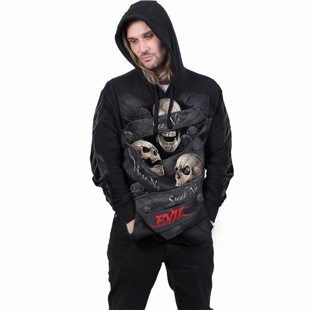SEE NO EVIL - Hoody Black - Spiral USA
