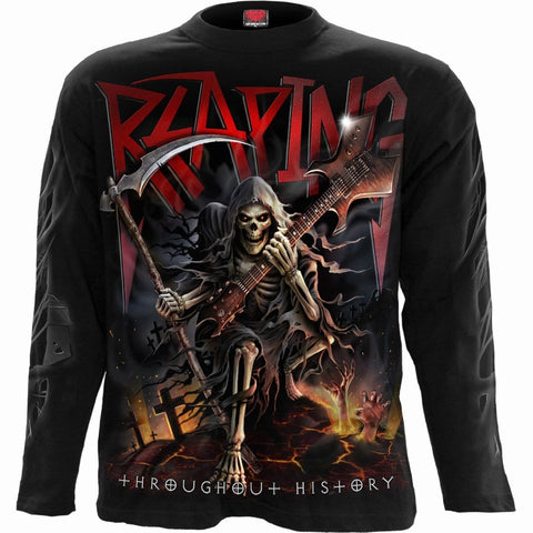 Image of REAPING TOUR - Longsleeve T-Shirt Black - Spiral USA