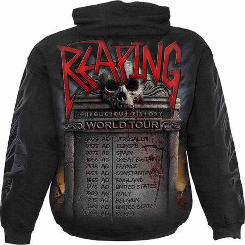 Image of REAPING TOUR - Hoody Black - Spiral USA