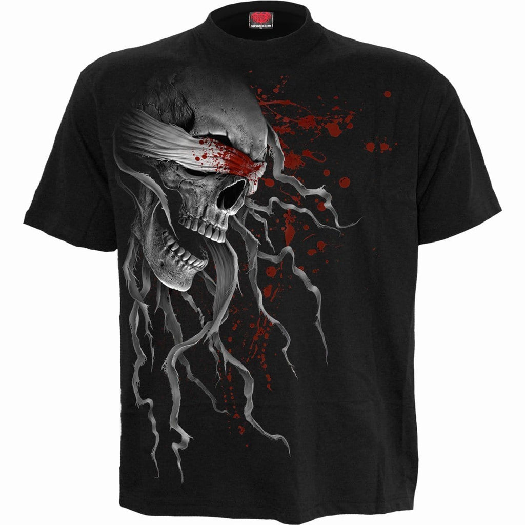 BLIND FAITH - Front Print T-Shirt Black - Spiral USA