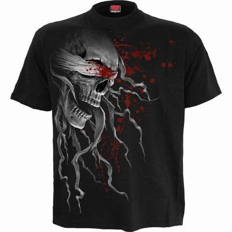 Image of BLIND FAITH - Front Print T-Shirt Black - Spiral USA