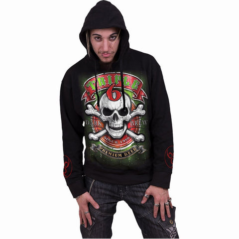 Image of TRIPLE 6 - Hoody Black - Spiral USA